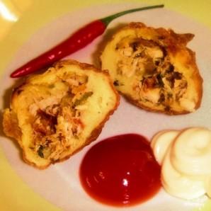 Пирожки с курицей и картошкой - фото шаг 22