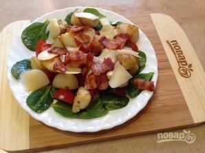 Теплый салат со шпинатом - фото шаг 9