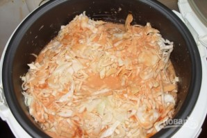 Тушеная капуста со сметаной и рисом - фото шаг 6