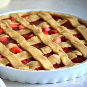 Торт Линцер с малиной и яблоками - фото шаг 11