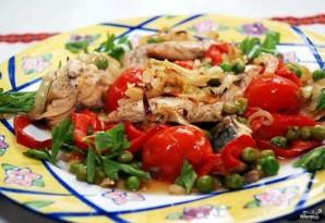 Скумбрия, запеченная с овощами - фото шаг 10