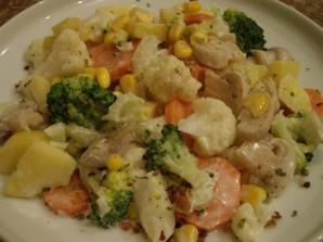 Салат из вареных грибов - фото шаг 5