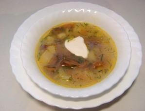 Суп из лисичек с сыром - фото шаг 6
