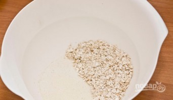 Манно-овсяные оладьи - фото шаг 1