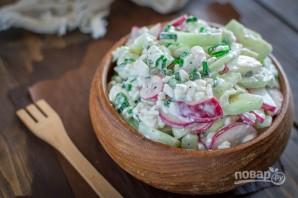 Салат с редисом - фото шаг 5