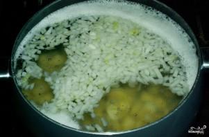 Грибной суп из шампиньонов замороженных - фото шаг 2