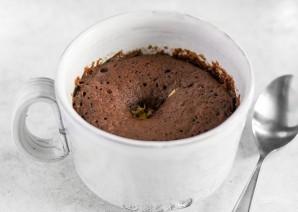 Шоколадный десерт в чашке - фото шаг 4