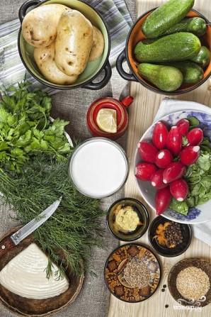 Вегетарианская окрошка - фото шаг 1