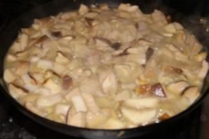 Тушеные белые грибы - фото шаг 4