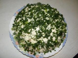 Салат с кальмарами и грибами - фото шаг 9