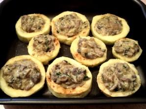 Кабачки с грибами в духовке - фото шаг 7