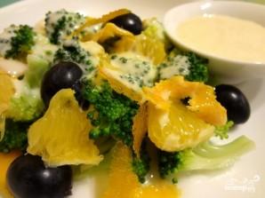Салат из брокколи с апельсином - фото шаг 9