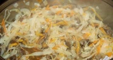 Опята, соленые с капустой - фото шаг 7