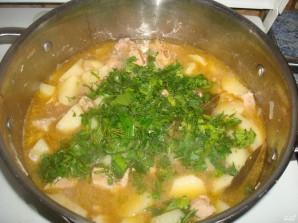 Картофель, тушенный со свининой - фото шаг 9