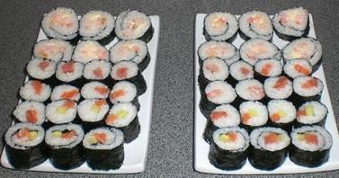 Суши с креветками - фото шаг 5