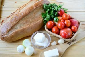 """Томатный суп в хлебе """"Ежик"""" - фото шаг 1"""