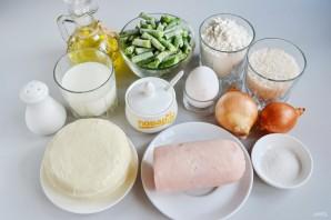 Пирог с ветчиной и стручковой фасолью - фото шаг 1