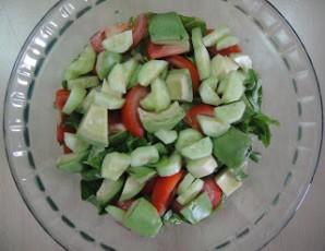 Американский салат со стейком - фото шаг 5
