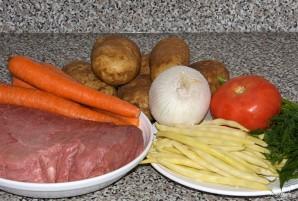 Тушеный картофель с мясом - фото шаг 1
