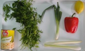 Салат из нута и перца - фото шаг 1