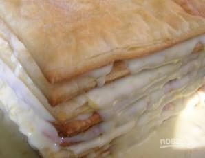 Слоеный торт со сгущенкой - фото шаг 8