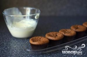 Шоколадные кексы с мятным кремом - фото шаг 6