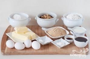 Ореховый торт с кленовым кремом - фото шаг 1