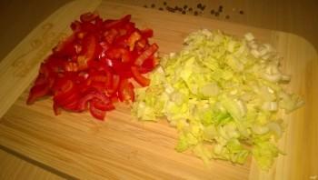 Салат из зеленой чечевицы диетический - фото шаг 3