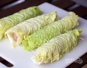 """Колбаски в капустном """"одеяльце"""" - фото шаг 4"""