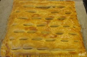 Слоеное бездрожжевое тесто с капустой - фото шаг 7