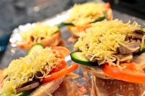 Бутерброды с шампиньонами и сыром - фото шаг 5