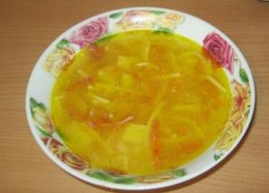 Суп с колбасой и вермишелью - фото шаг 12