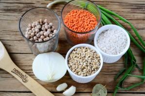Наваристый суп из смеси бобовх и круп - фото шаг 1