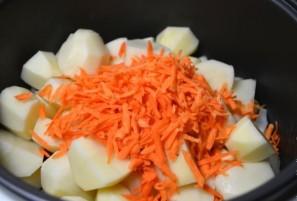 Куриные сердечки с овощами в мультиварке - фото шаг 5