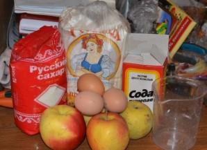 Шарлотка с яблоками в аэрогриле - фото шаг 1