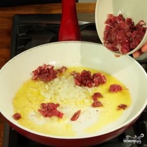 Лук-порей с мясом - фото шаг 2