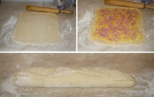Хлеб с колбасой и сыром в хлебопечке - фото шаг 4