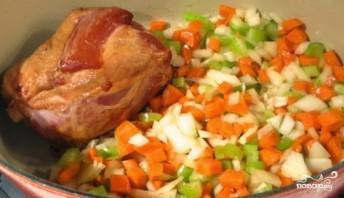 Гороховый суп из свиной рульки - фото шаг 4