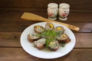 Мясной рулет с грибным соусом - фото шаг 10