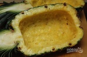 Тайский рис с креветками в ананасе - фото шаг 2