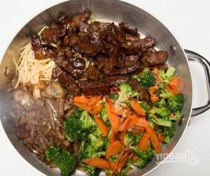 Макароны с мясом и овощами - фото шаг 11