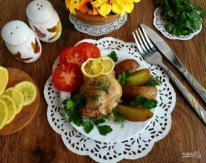 Курица, запеченная с лимоном и травами - фото шаг 6