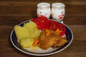 Курица с морковкой в духовке - фото шаг 4