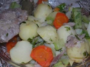 Овощное рагу с гусиным мясом - фото шаг 7