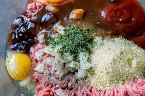 Мясной рулет с макаронами и сыром - фото шаг 1