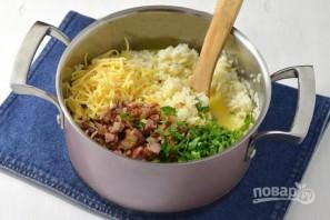 Запеканка из риса, ветчины и сыра - фото шаг 5