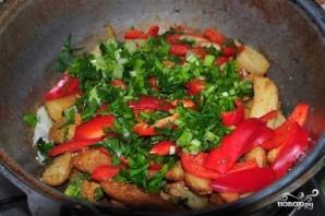 Жареная картошка с болгарским перцем - фото шаг 5