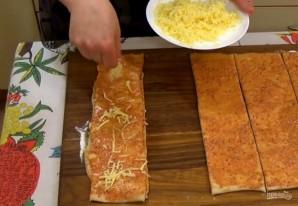 "Хлеб ""Гармошка"" на пиве с сыром - фото шаг 4"