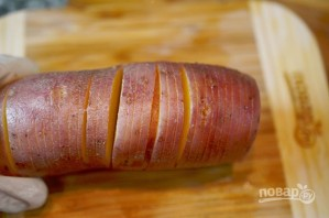Чипсы из картофеля в мундире с дипом - фото шаг 1