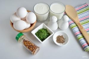 Домашний сыр с зеленью и тмином - фото шаг 1